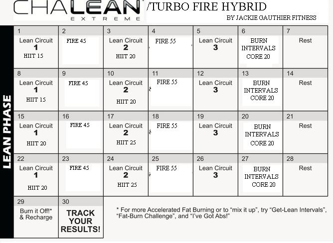 Chalean Extreme Turbo Fire Custom Hybrid Program for Busy Working Moms ...